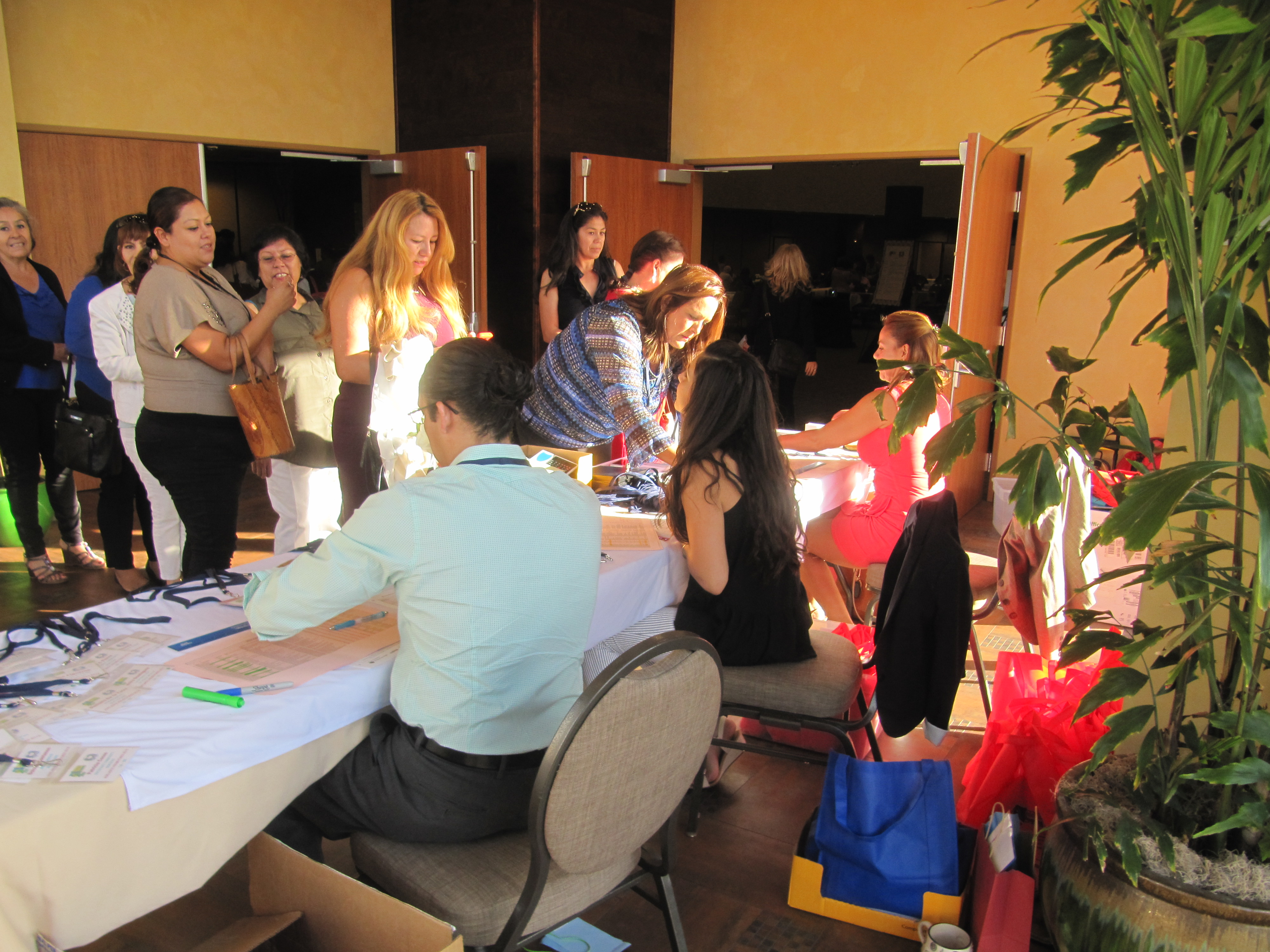 Picture of Promotores at conference registration